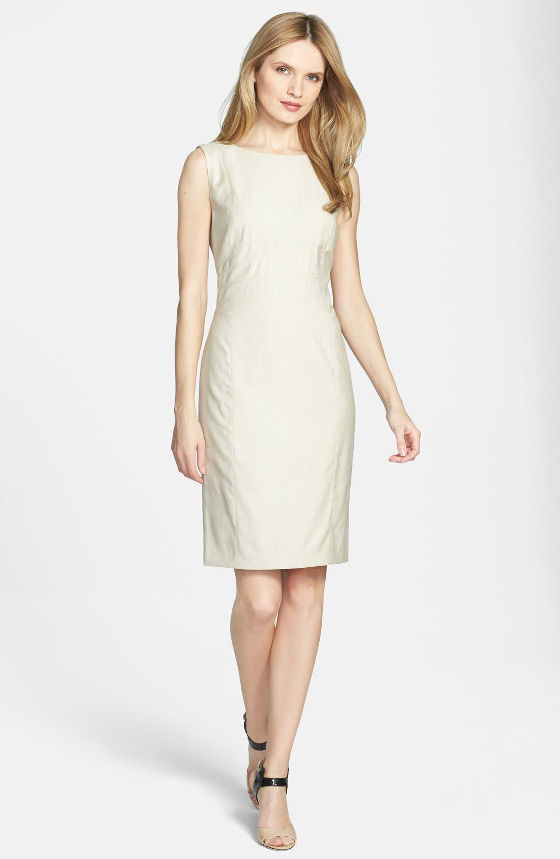 Main Image - BOSS 'Decila' Sleeveless Suiting Dress