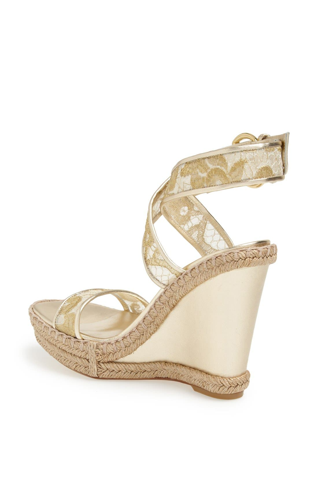 Alternate Image 2  - Stuart Weitzman 'Guipure' Wedge Sandal