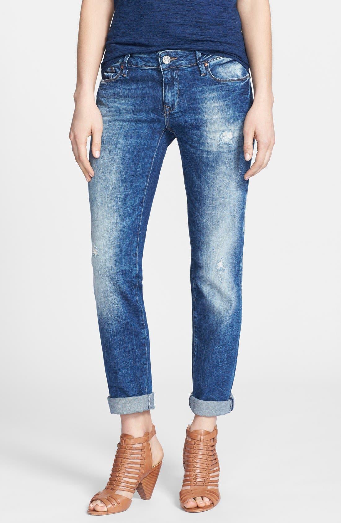 Main Image - Mavi Jeans 'Emma' Distressed Slim Fit Boyfriend Jeans (Vintage)