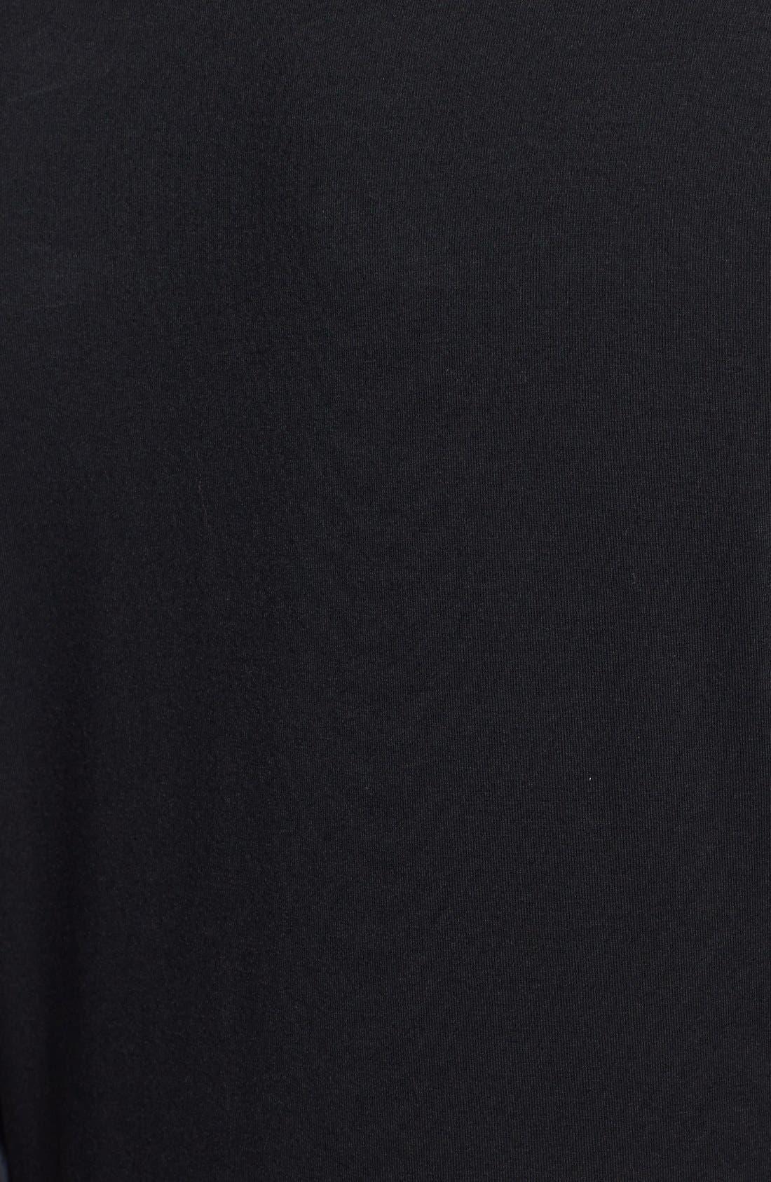 Alternate Image 3  - Vince Camuto Print Chiffon Sleeve Stretch Knit Top