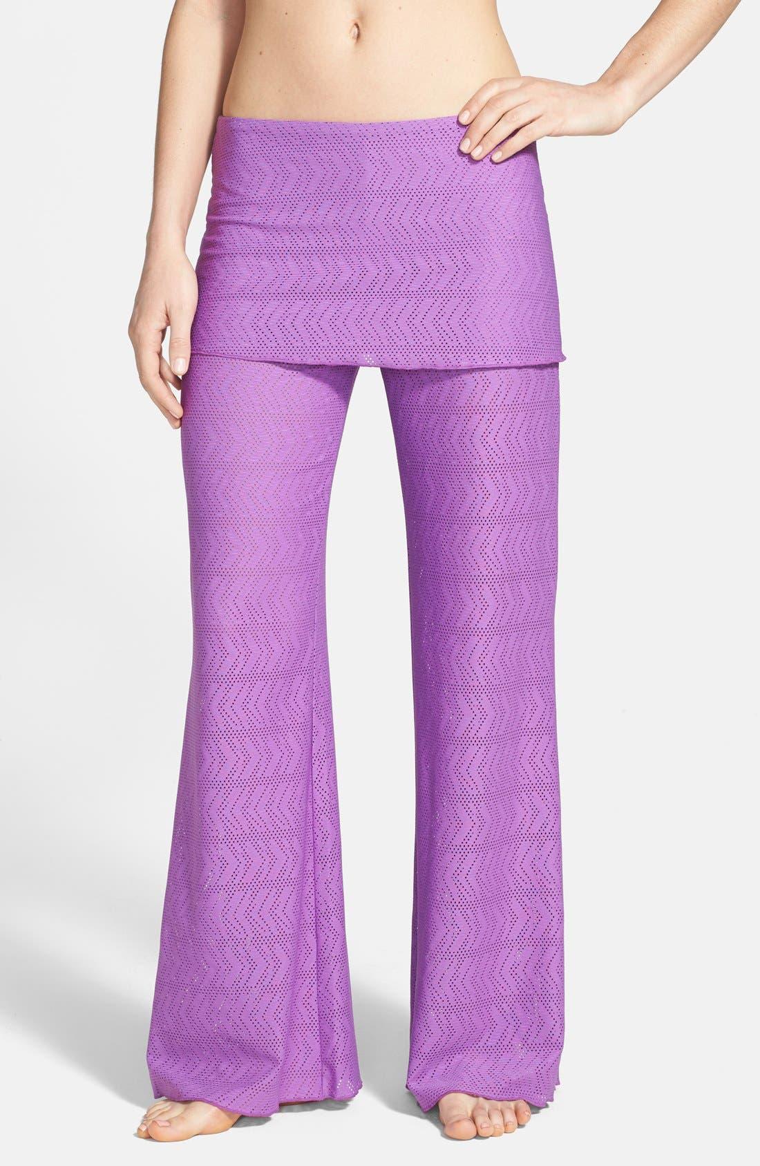 Main Image - prAna 'Satori' Mesh Cover-Up Skirted Pants