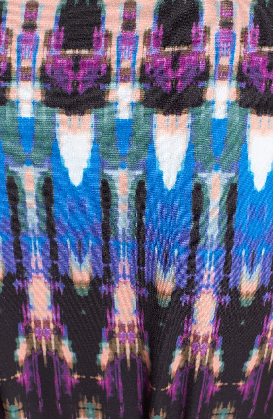 Alternate Image 3  - Eliza J Print Front Knot Jersey Maxi Dress