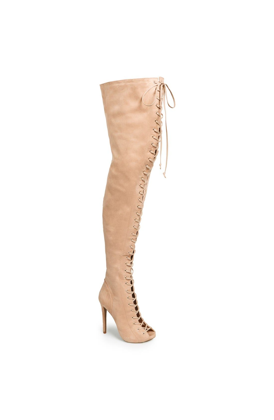 Alternate Image 1 Selected - ZiGi girl 'Piarry' Lace-Up Thigh-High Boot (Narrow Calf)