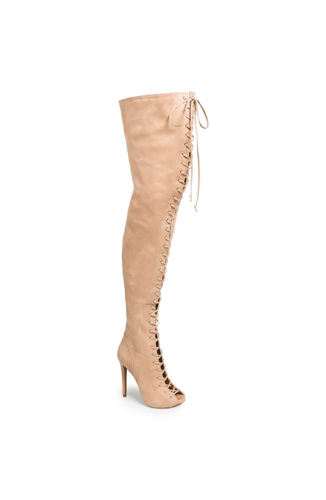 Main Image - ZiGi girl 'Piarry' Lace-Up Thigh-High Boot (Narrow Calf)