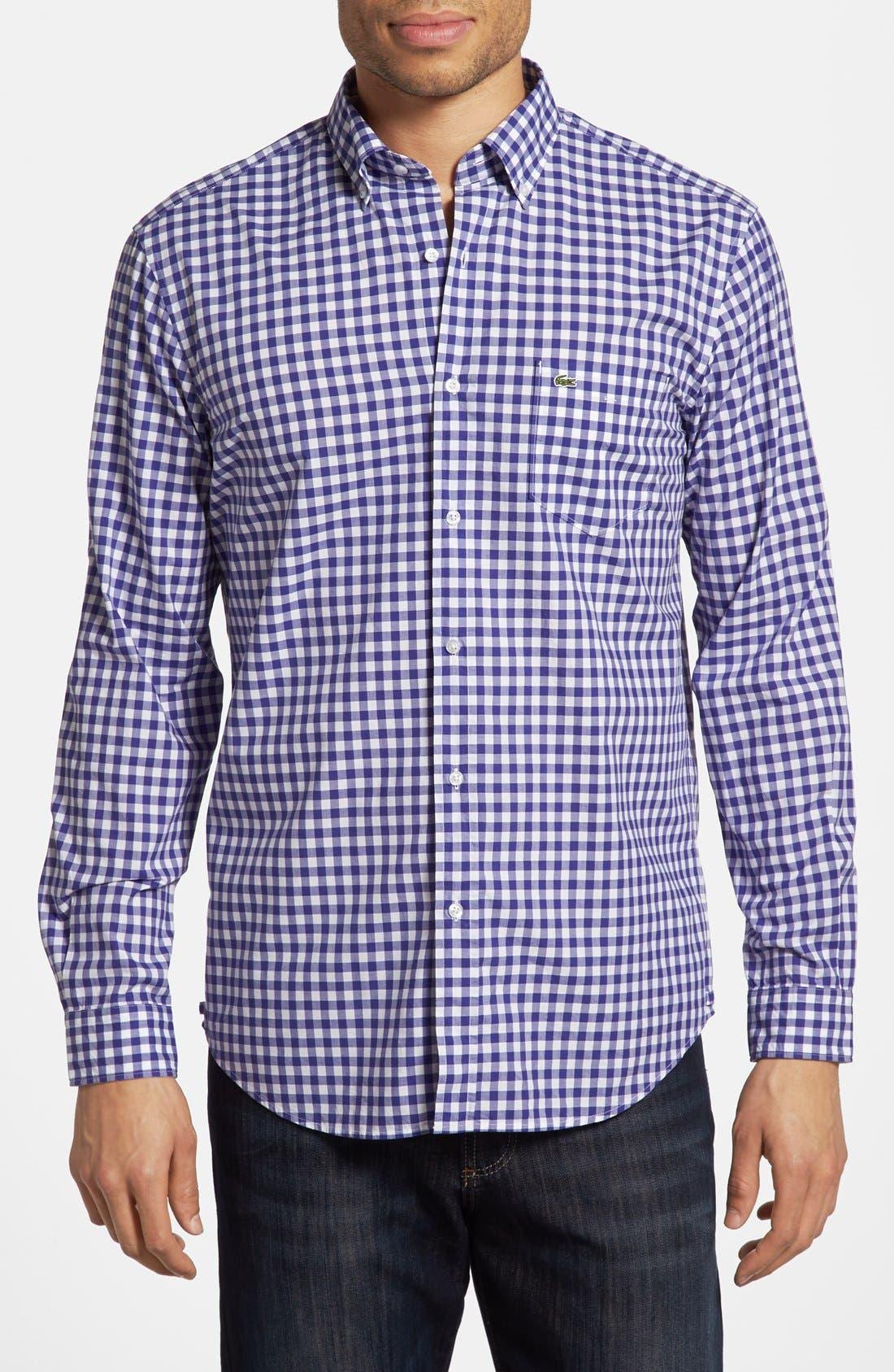 Alternate Image 1 Selected - Lacoste Gingham Sport Shirt