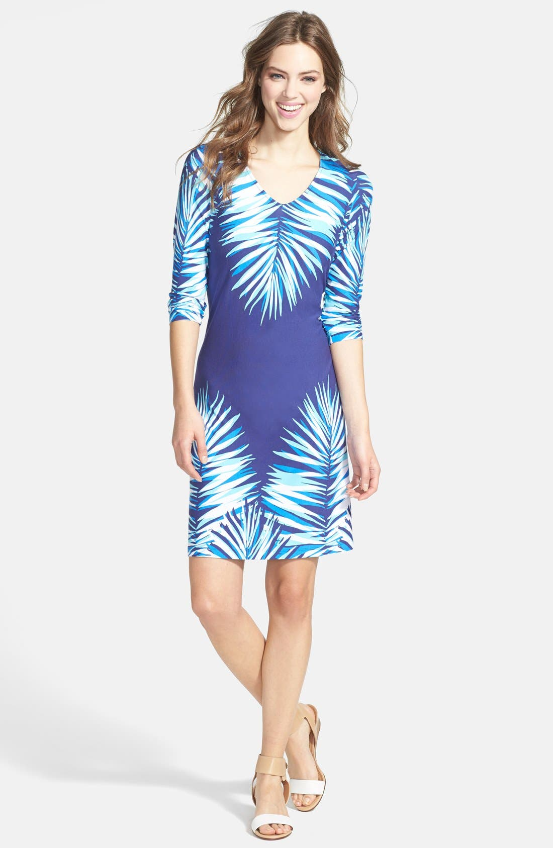 Alternate Image 1 Selected - Tommy Bahama 'Bluefields Palm' Dress