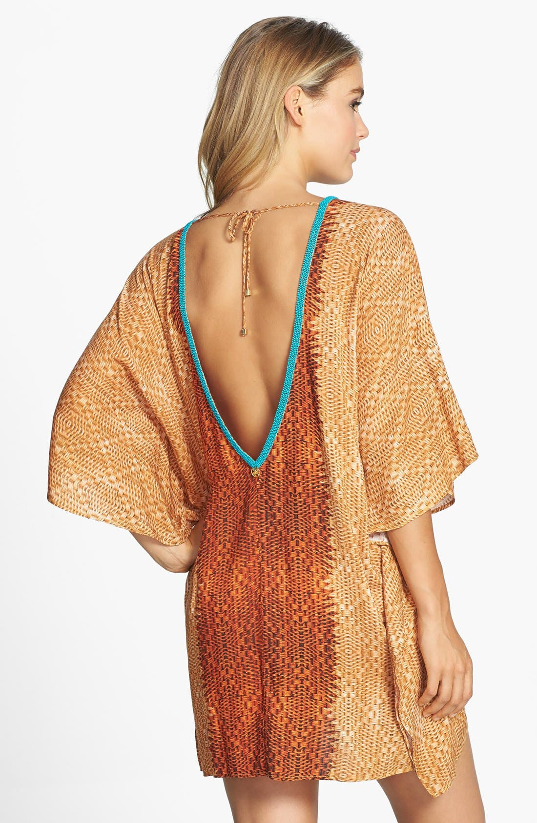 Alternate Image 2  - ViX Swimwear 'Para' Beaded V-Neck Cover-Up Caftan