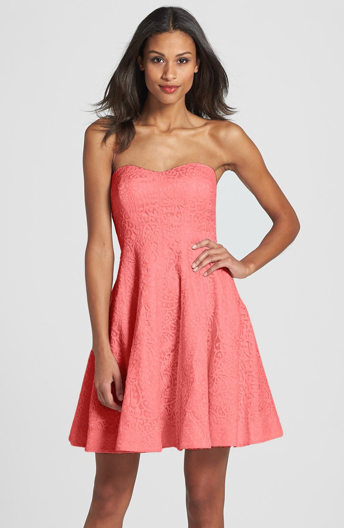 Alternate Image 1 Selected - Donna Morgan 'Avery' Lace Fit & Flare Dress