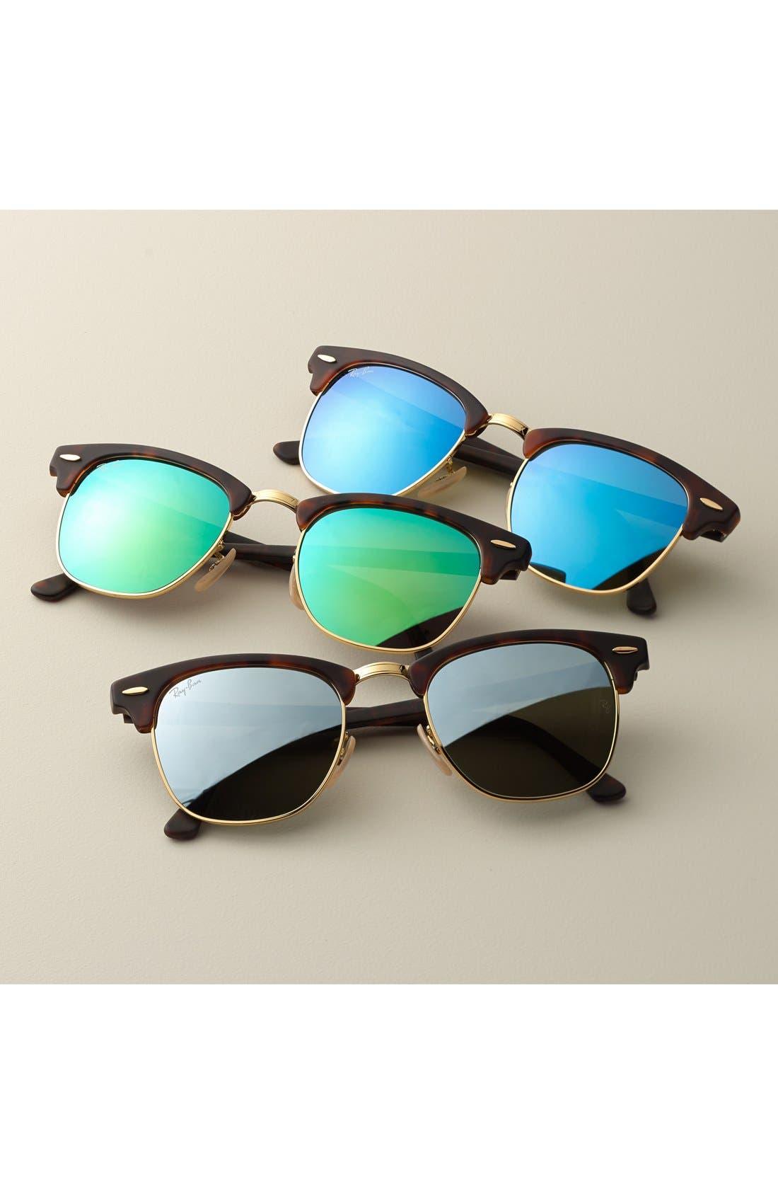 Alternate Image 2  - Ray-Ban 'Flash Clubmaster' 51mm Sunglasses