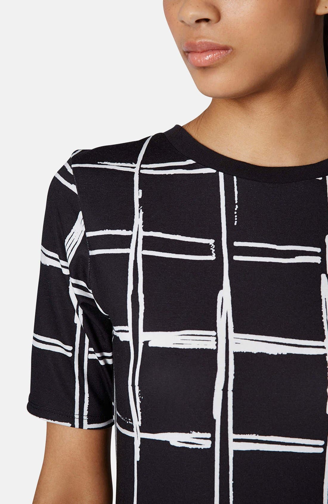 Alternate Image 4  - Topshop Grid Pattern Midi Dress