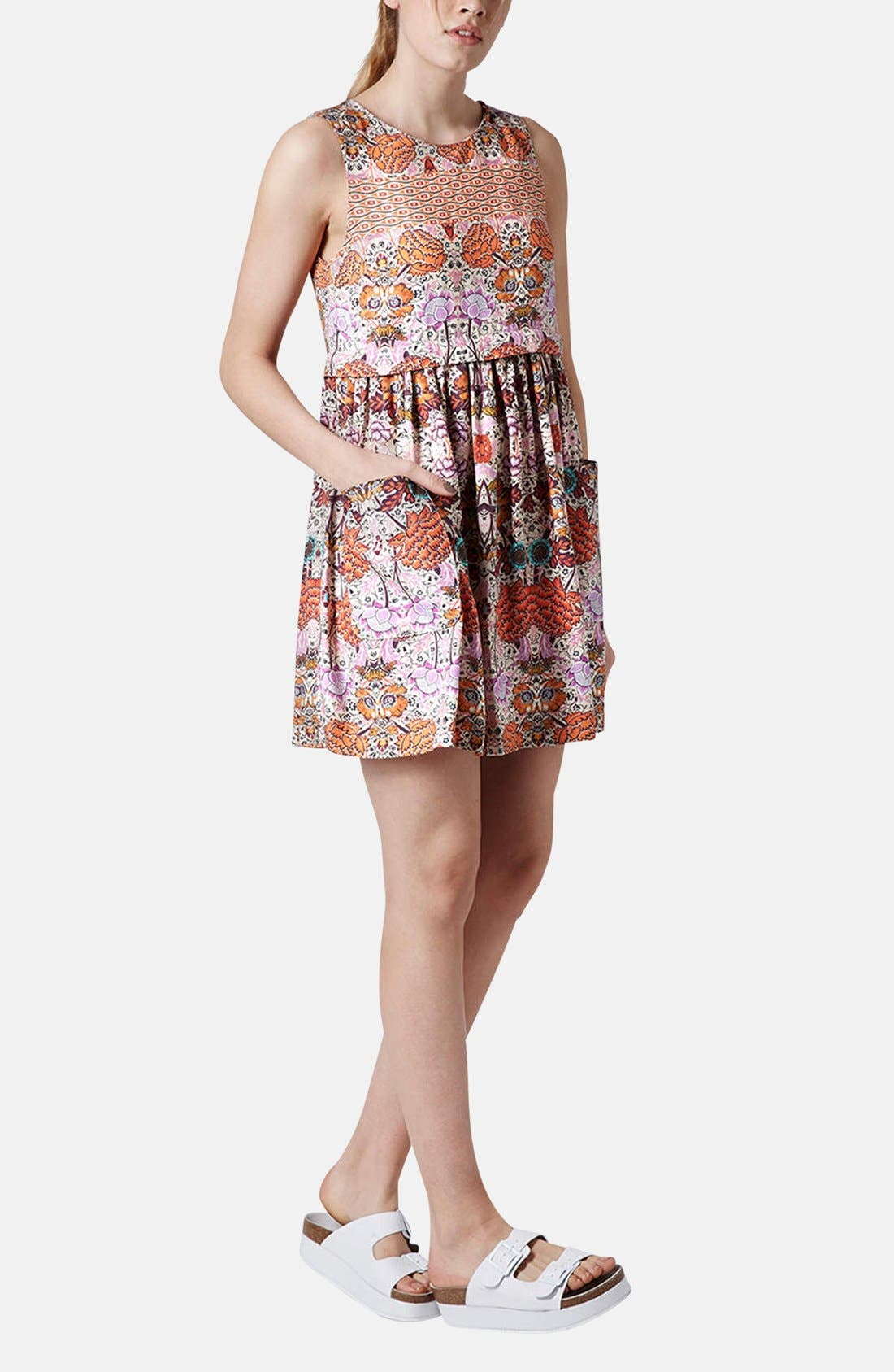 Alternate Image 5  - Topshop 'Folklore' Print Shift Dress