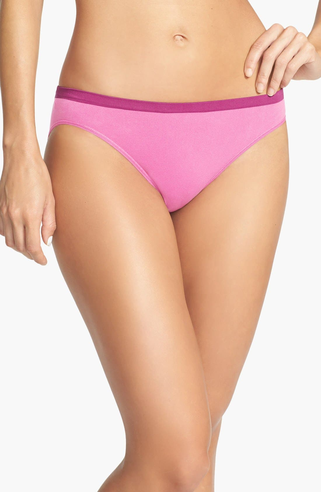 Alternate Image 1 Selected - Shimera Seamless Colorblock High Cut Briefs
