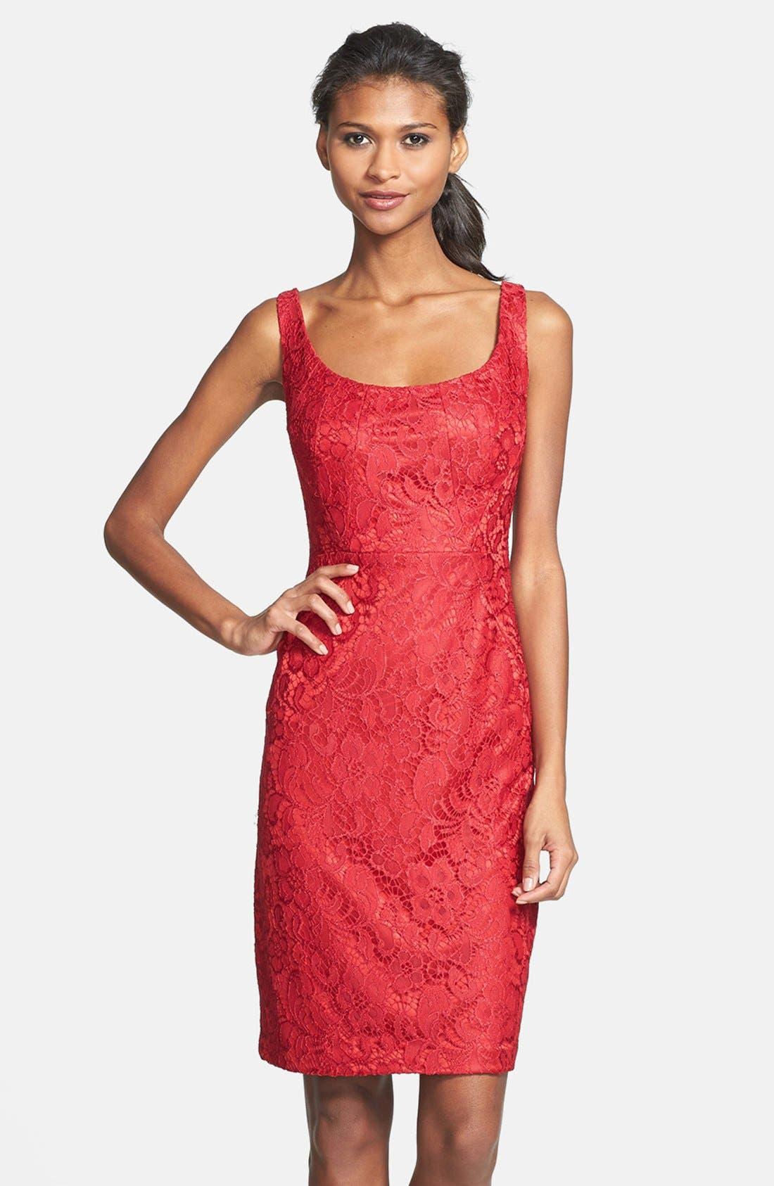 Alternate Image 1 Selected - JAX Lace Sheath Dress