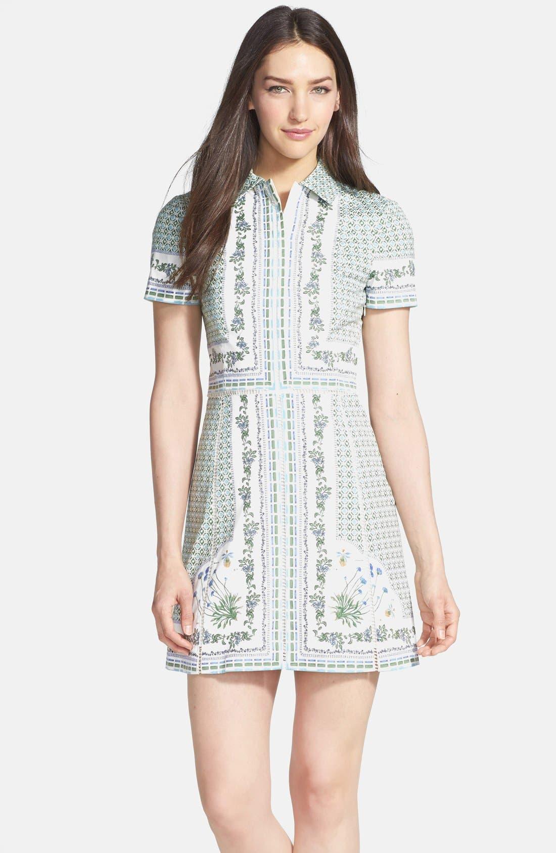 Alternate Image 1 Selected - Tory Burch 'Talia' Poplin Shirtdress