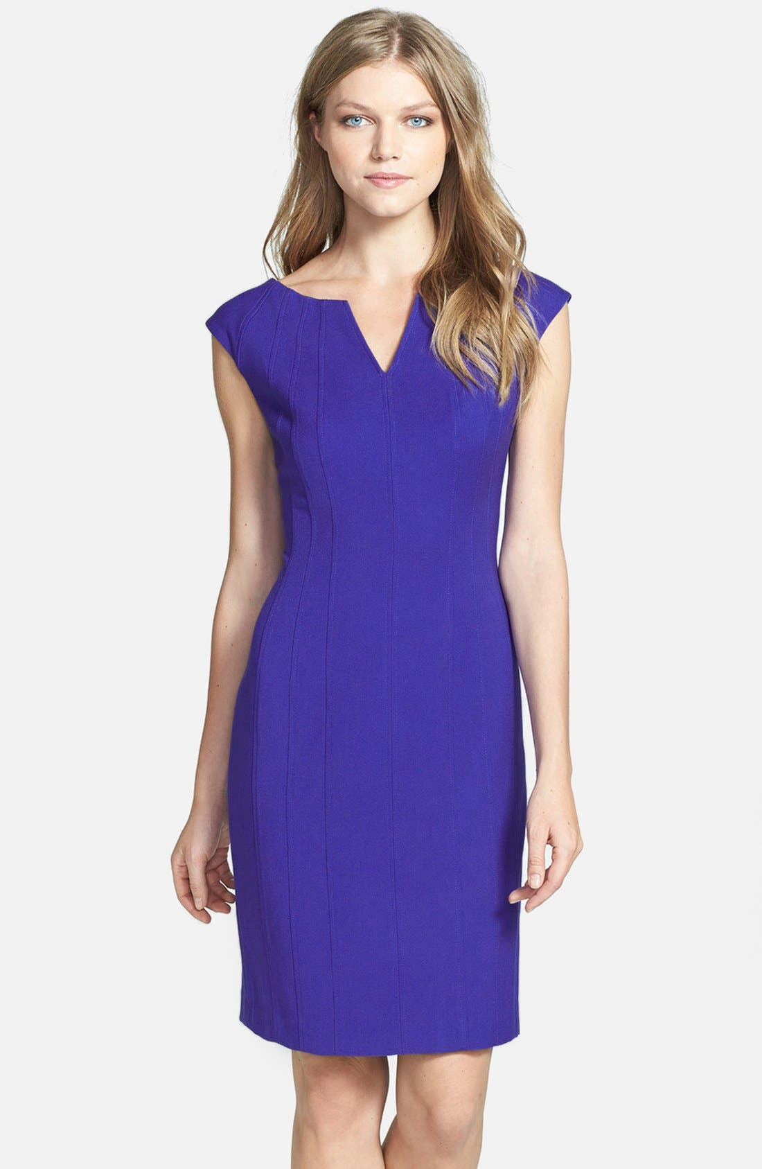 Main Image - Ivanka Trump Structured Stretch Woven Sheath Dress