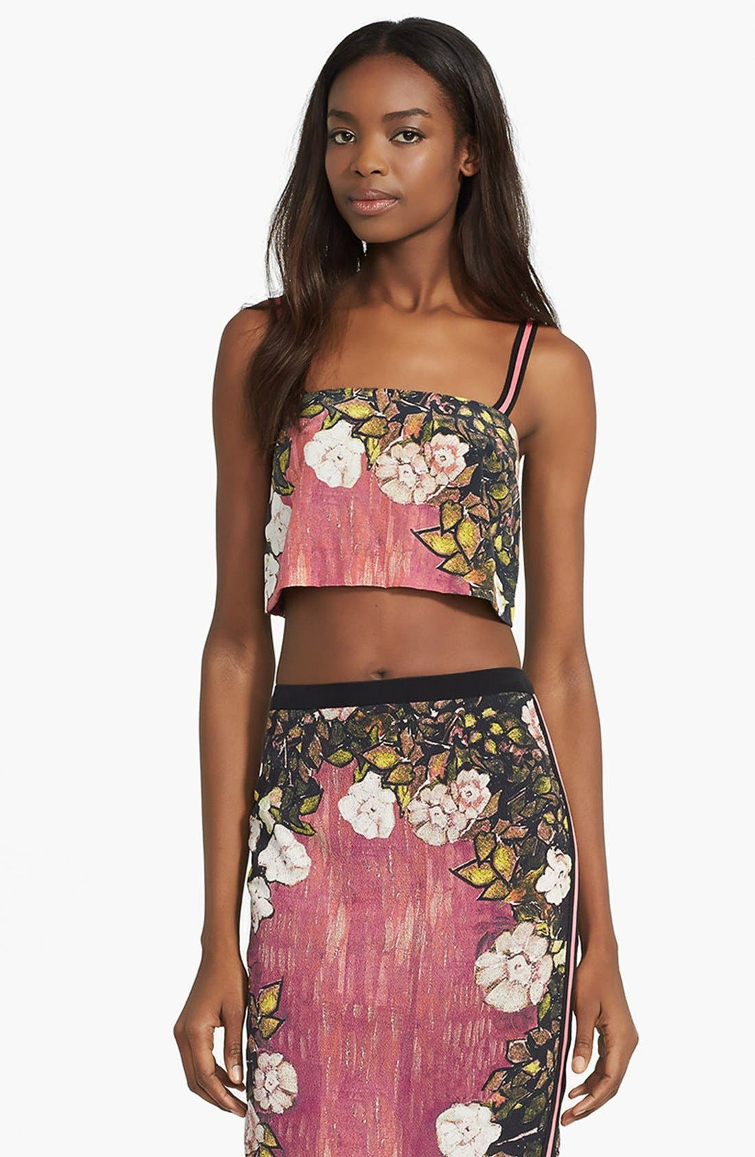 Main Image - Tracy Reese Silk Crop Top