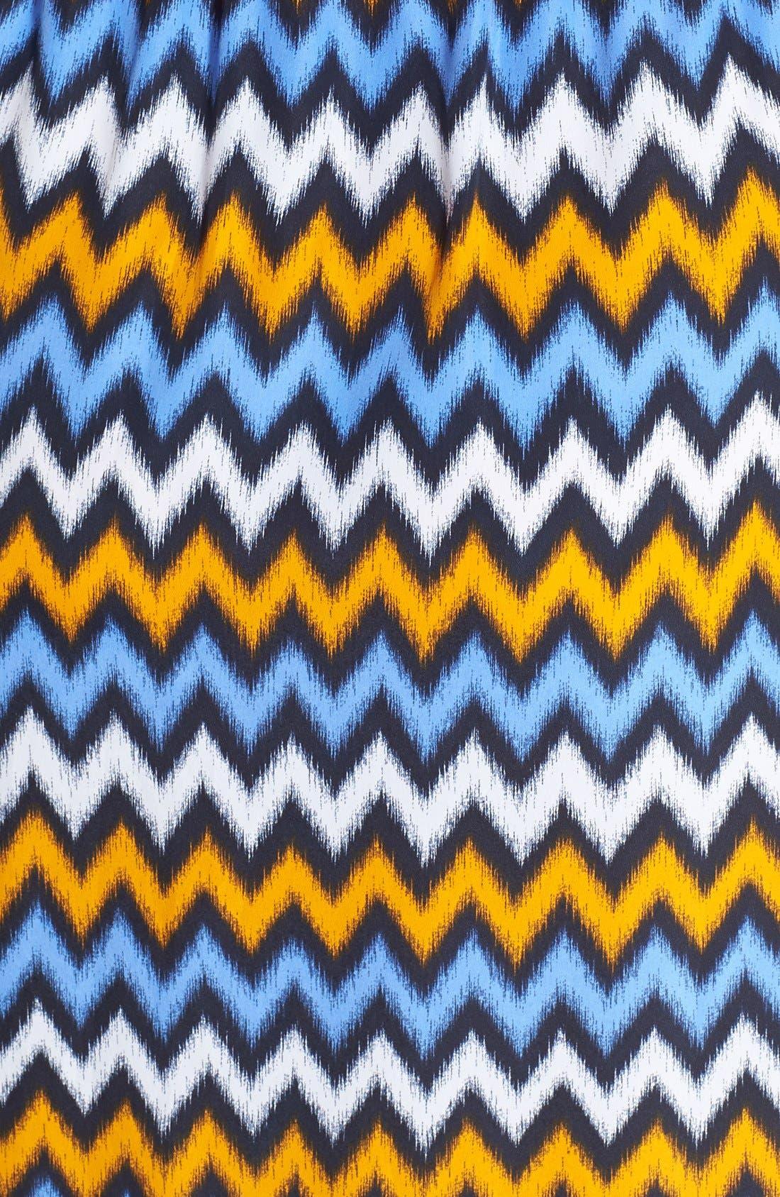 Alternate Image 3  - MICHAEL Michael Kors Ikat Chevron Print V-Neck Maxi Dress (Plus Size)