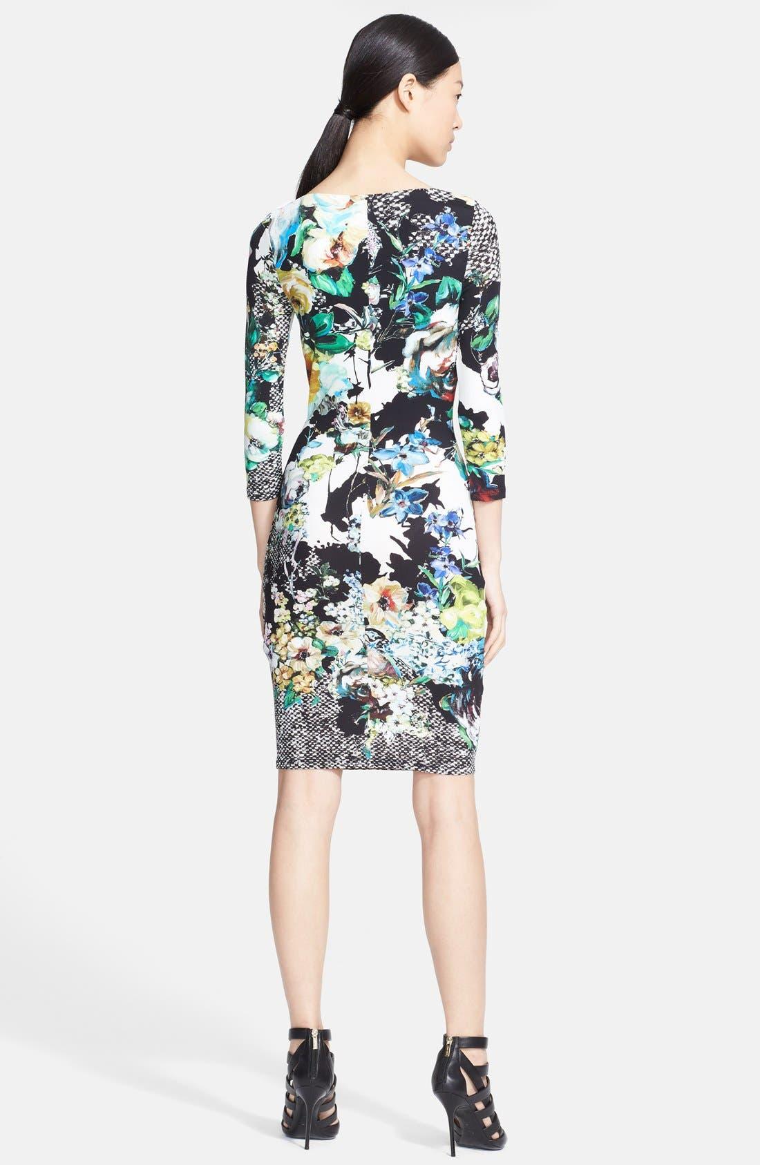 Alternate Image 2  - Roberto Cavalli Slit Neck Print Dress