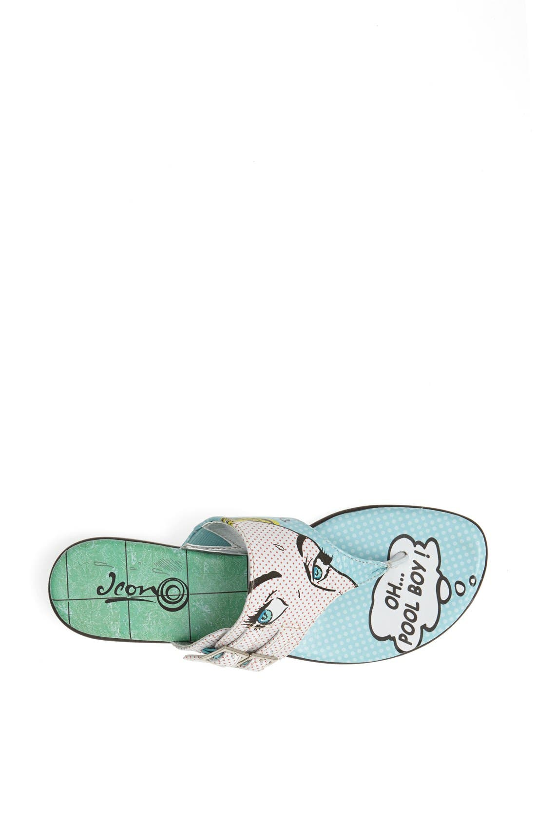 Alternate Image 3  - Icon Footwear Flat Thong Sandal