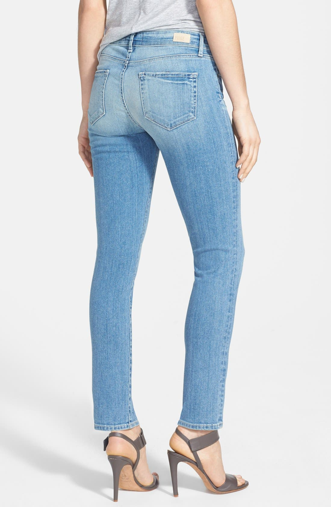 Alternate Image 2  - Paige Denim 'Skyline' Ankle Peg Skinny Jeans (Whitley)