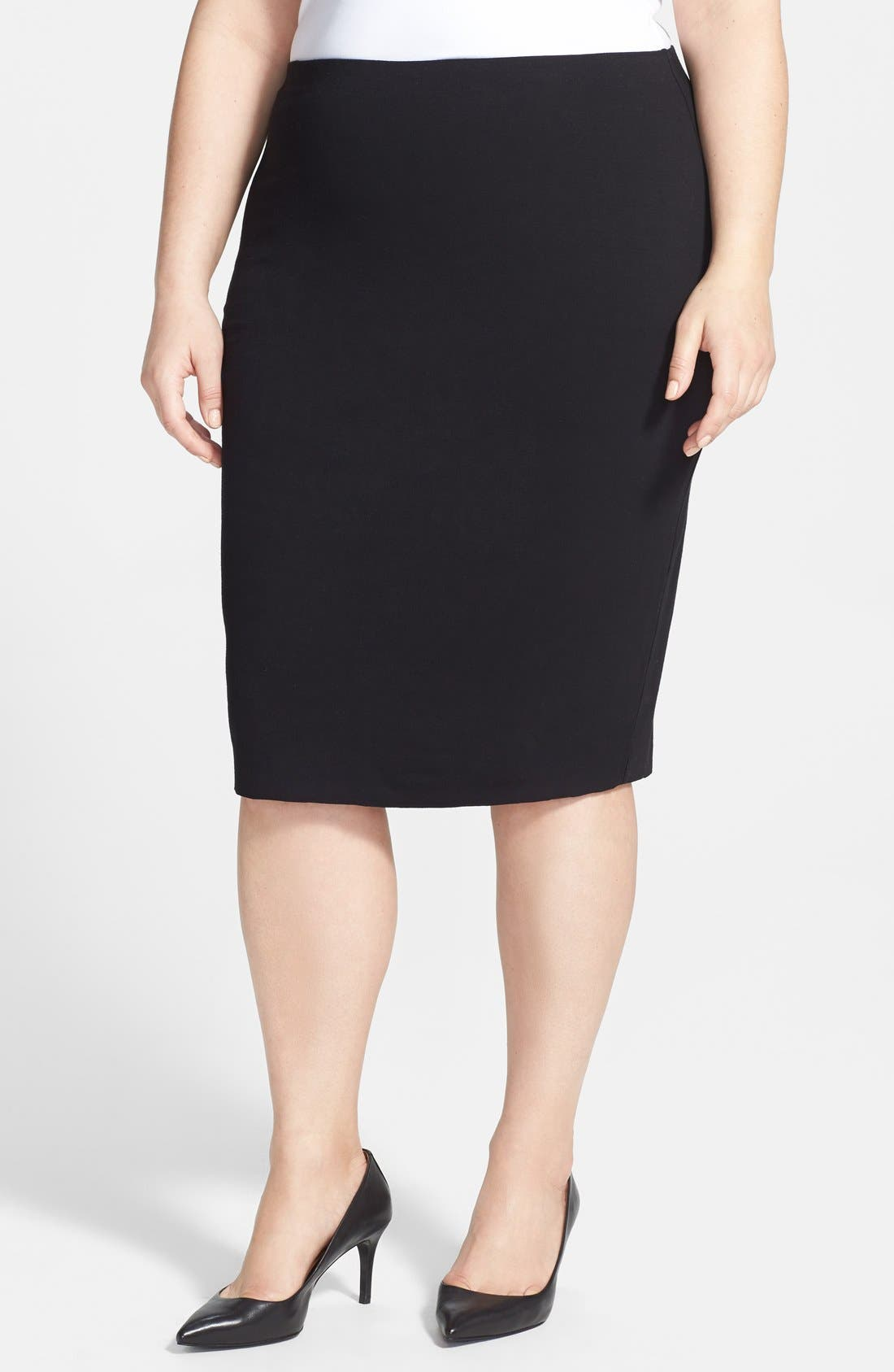Alternate Image 1 Selected - Vince Camuto Midi Tube Skirt (Plus Size)
