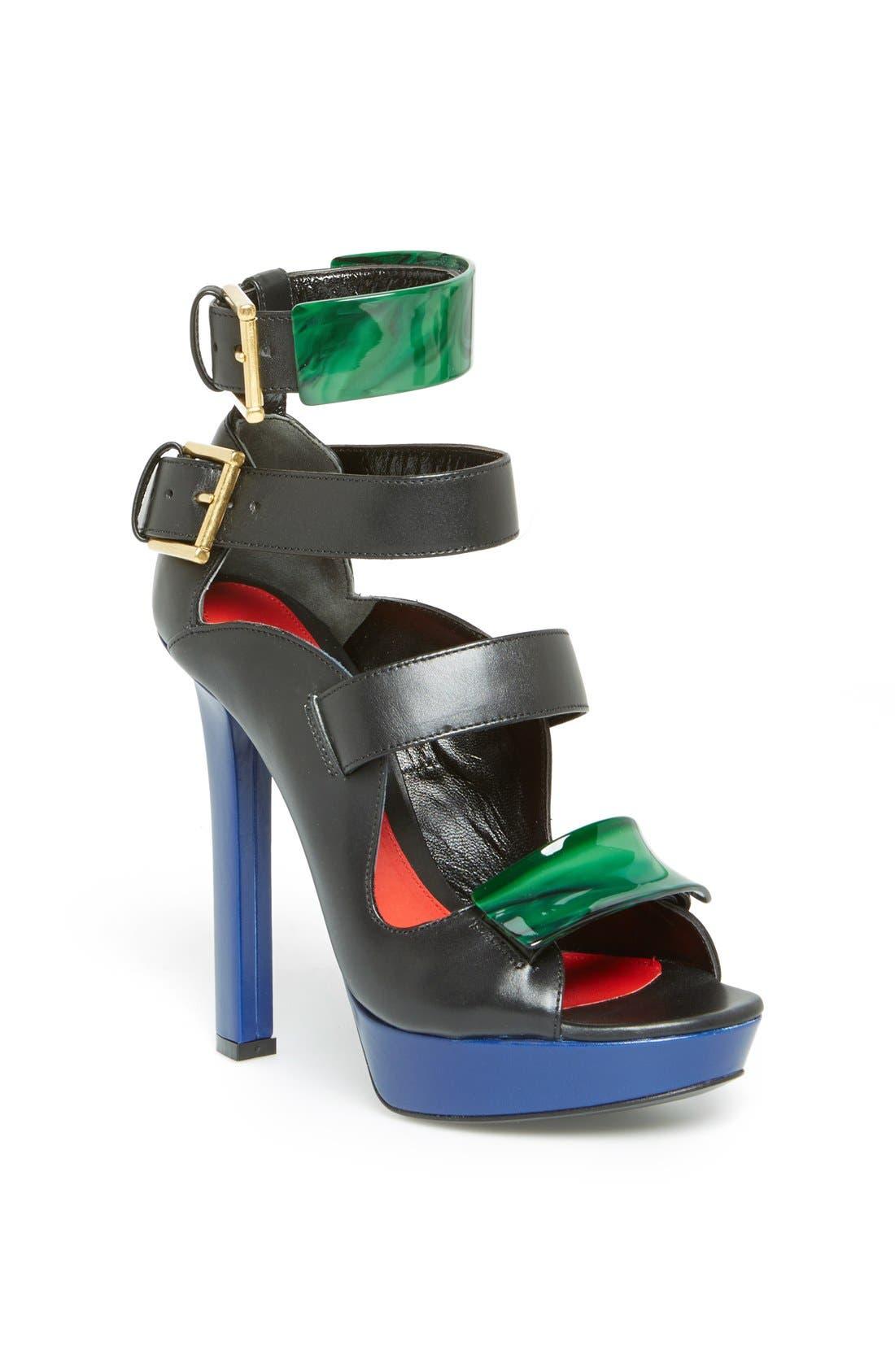 Main Image - Alexander McQueen Buckle Strap Platform Sandal