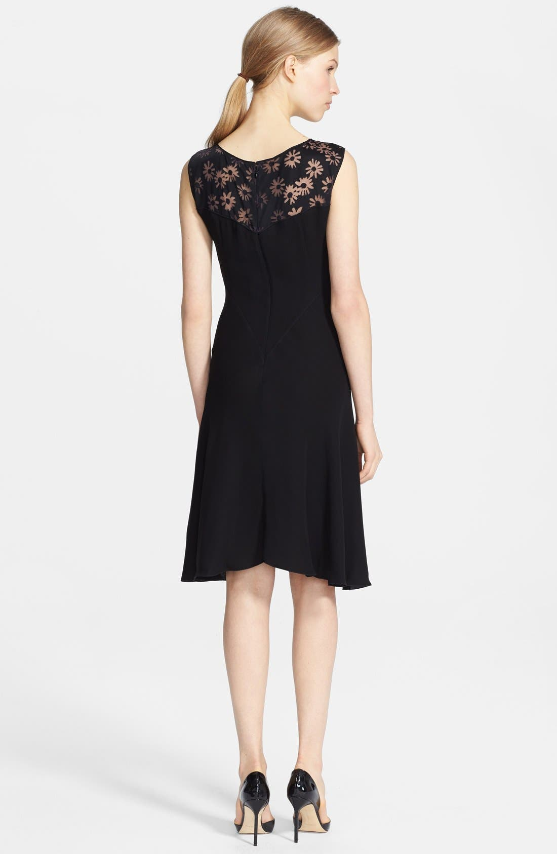Alternate Image 2  - Nina Ricci Sleeveless Devoré Yoke Dress