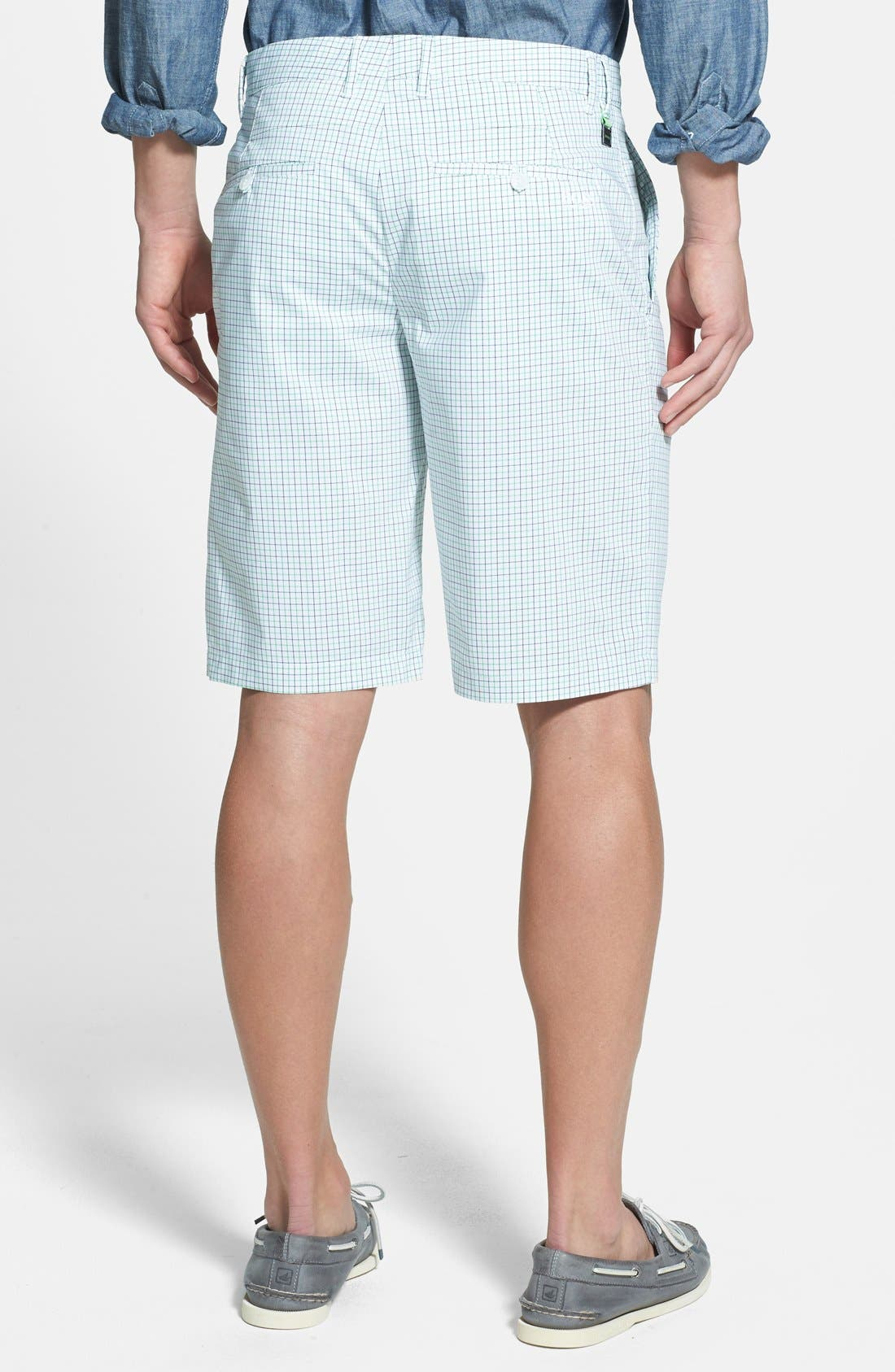 Alternate Image 2  - BOSS Green 'Hakob' Mini Check Tech Shorts