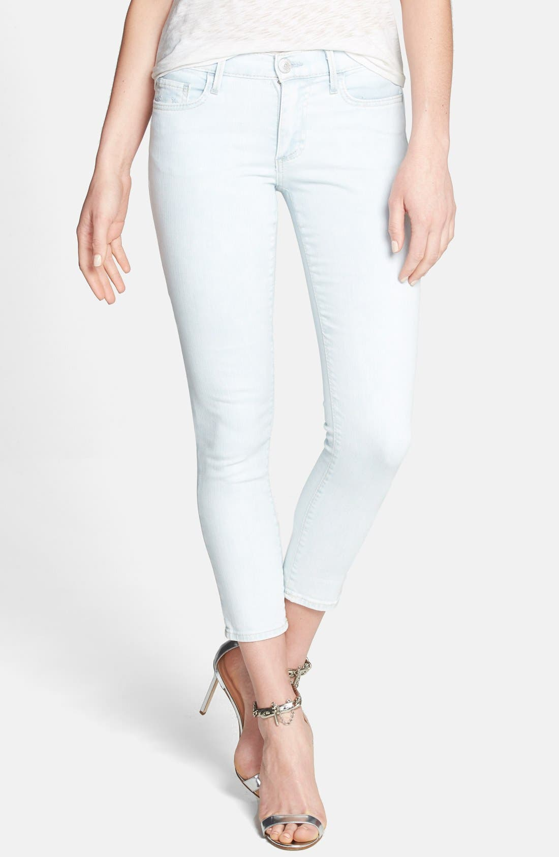 Alternate Image 1 Selected - True Religion Brand Jeans Crop Skinny Jeans (Soul Eyes)