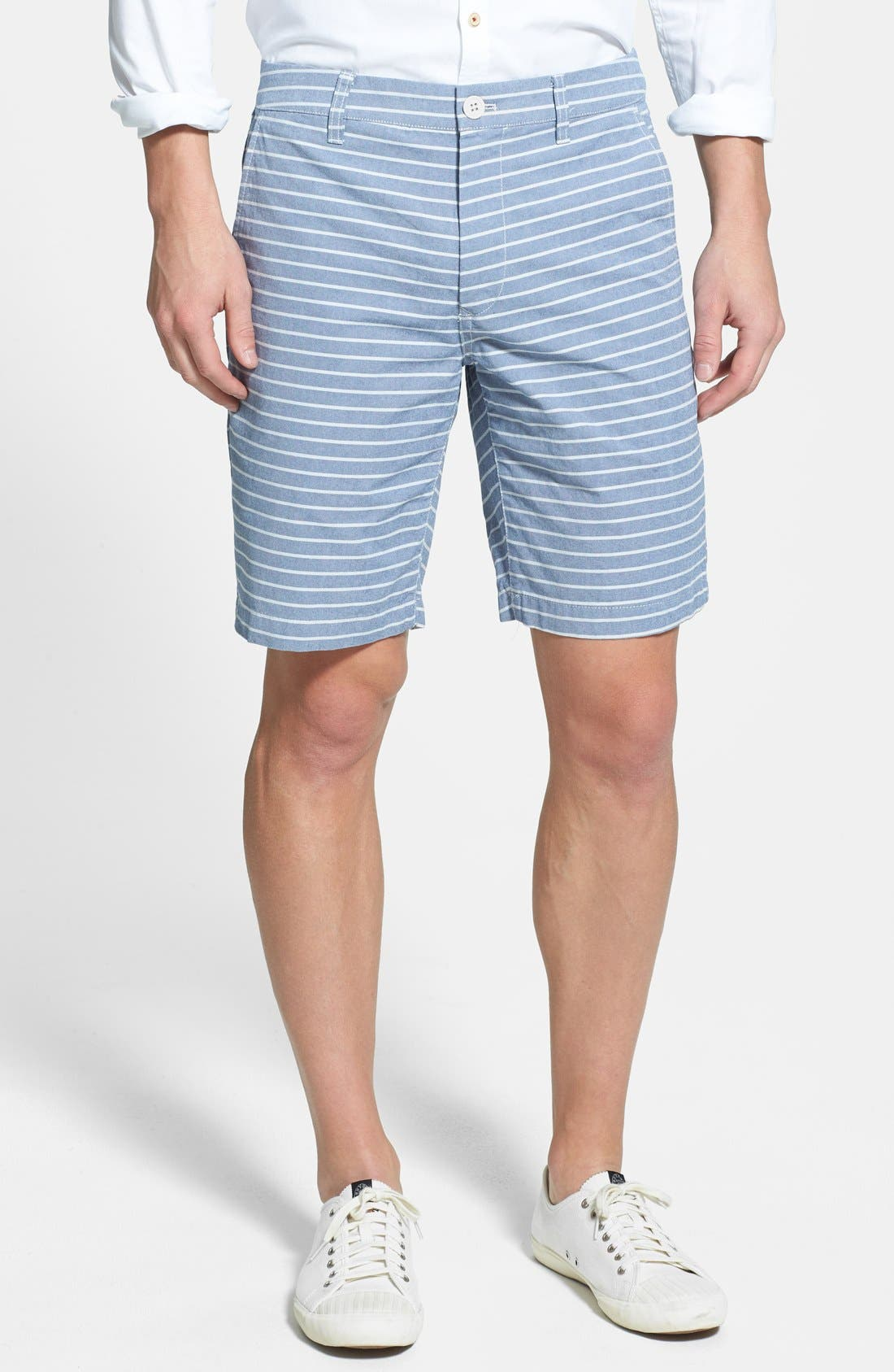 "Alternate Image 1 Selected - Bonobos 9"" 'Chesapeakes' Flat Front Cotton Twill Shorts"