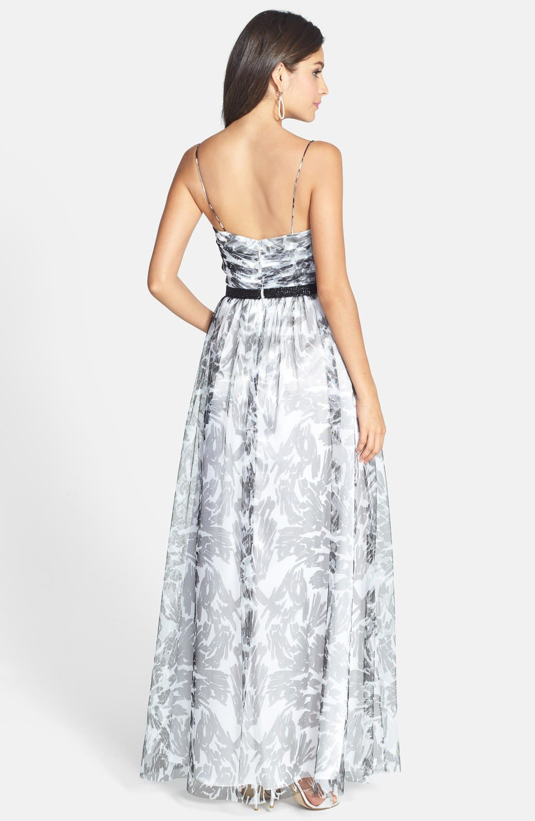 Alternate Image 2  - Hailey by Adrianna Papell Print A-Line Gown
