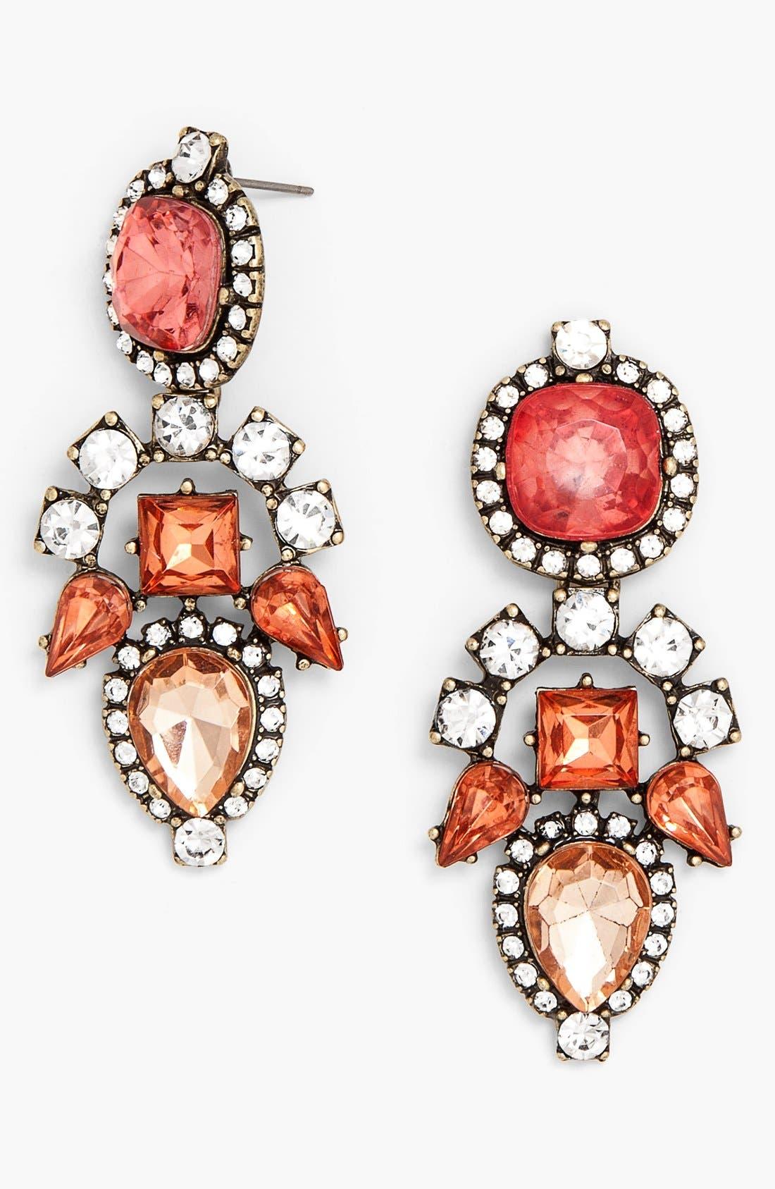 Alternate Image 1 Selected - BaubleBar 'Aztec' Crystal Drop Earrings