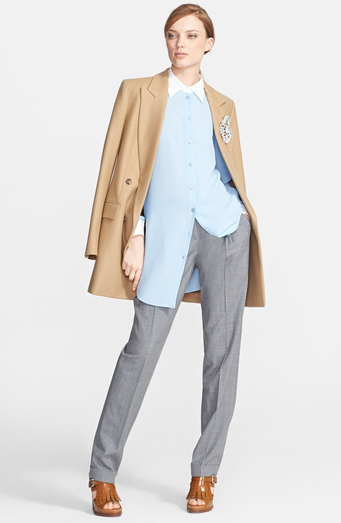 Alternate Image 4  - Michael Kors Long Silk Georgette Shirt