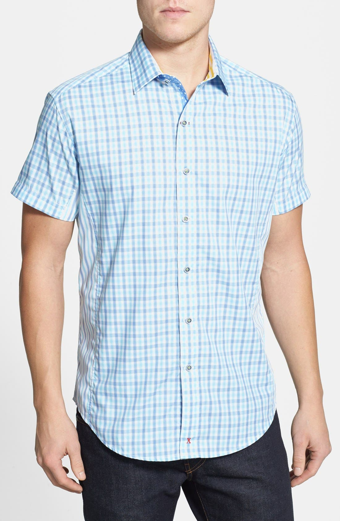 Alternate Image 1 Selected - Robert Graham 'Fields' Tailored Fit Sport Shirt