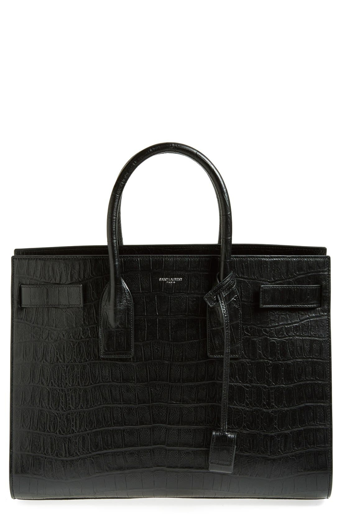Alternate Image 1 Selected - Saint Laurent 'Sac de Jour' Croc Embossed Leather Tote