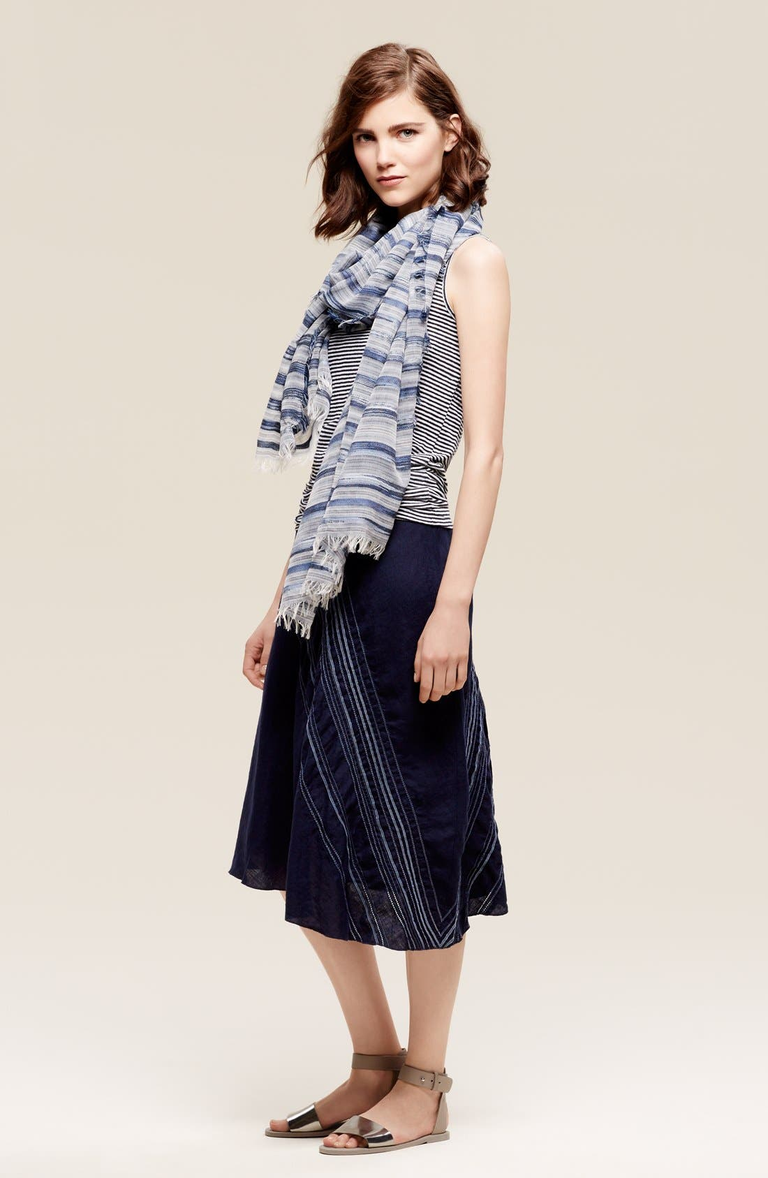 Alternate Image 4  - Eileen Fisher Stripe Scarf