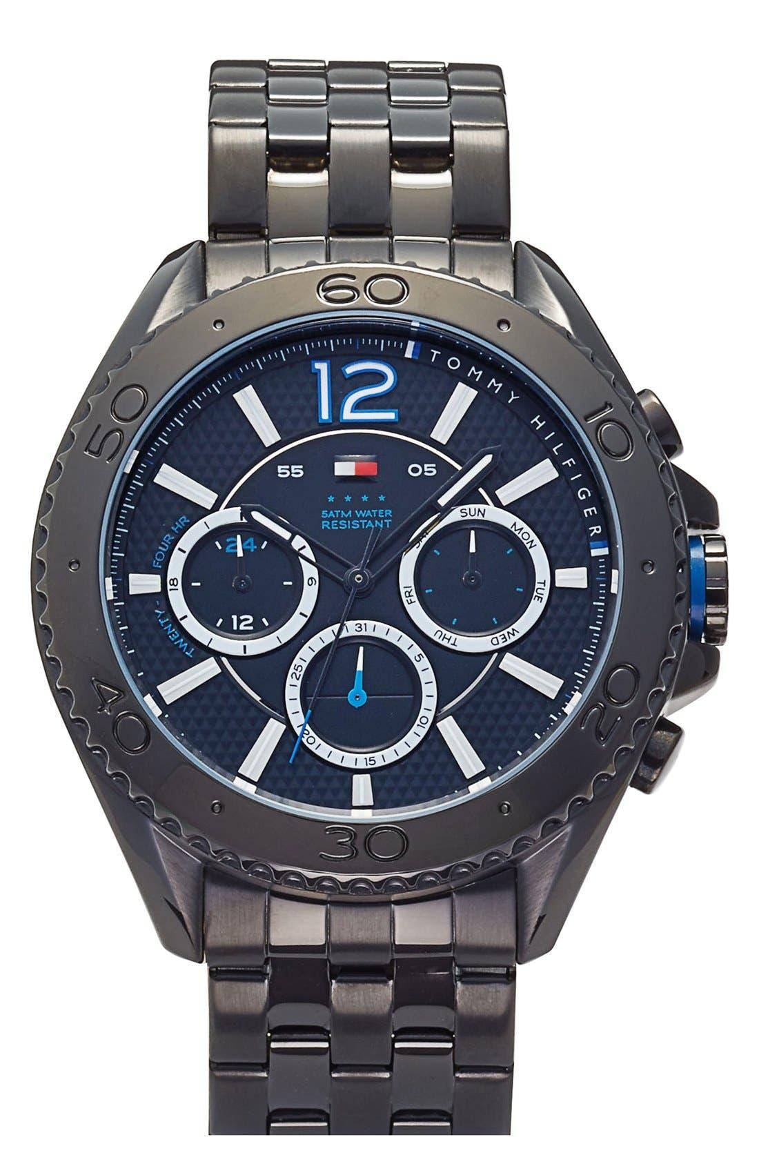 Main Image - Tommy Hilfiger Multifunction Bracelet Watch, 47mm