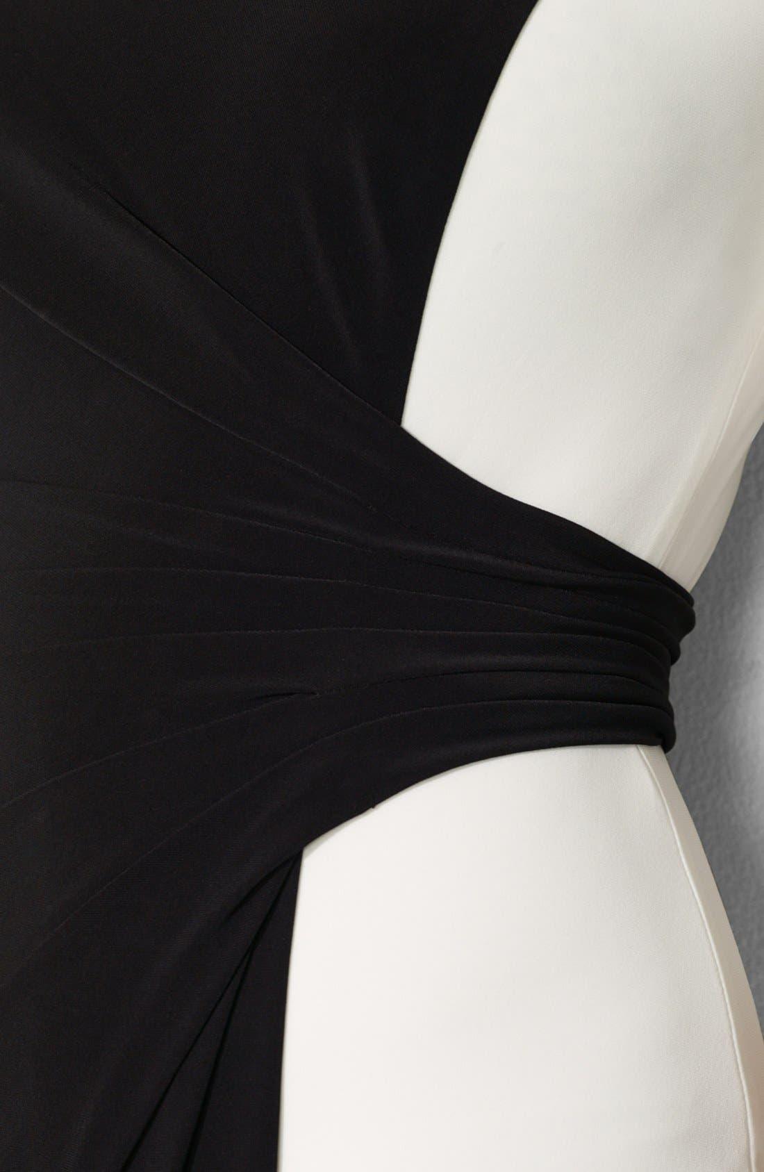 Alternate Image 3  - Lauren Ralph Lauren Colorblock Matte Jersey Dress (Plus Size)