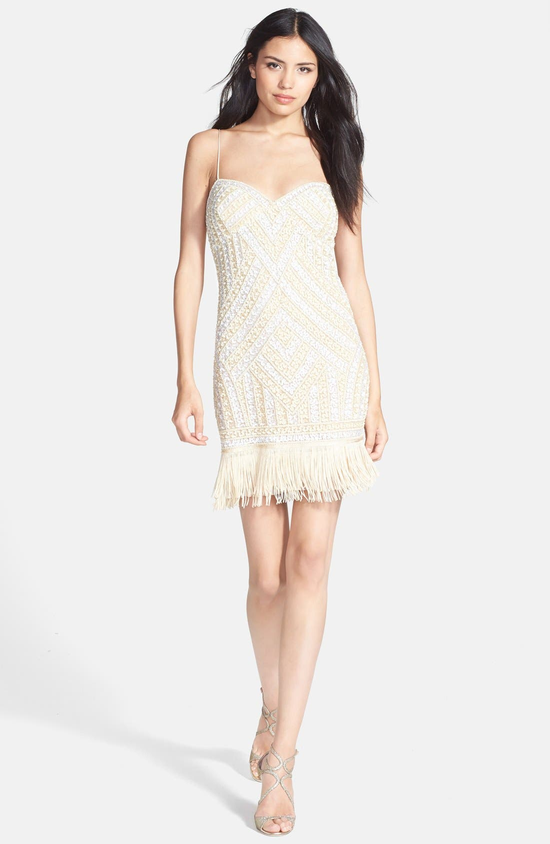 Alternate Image 3  - Aidan Mattox Embellished Fringe Dress