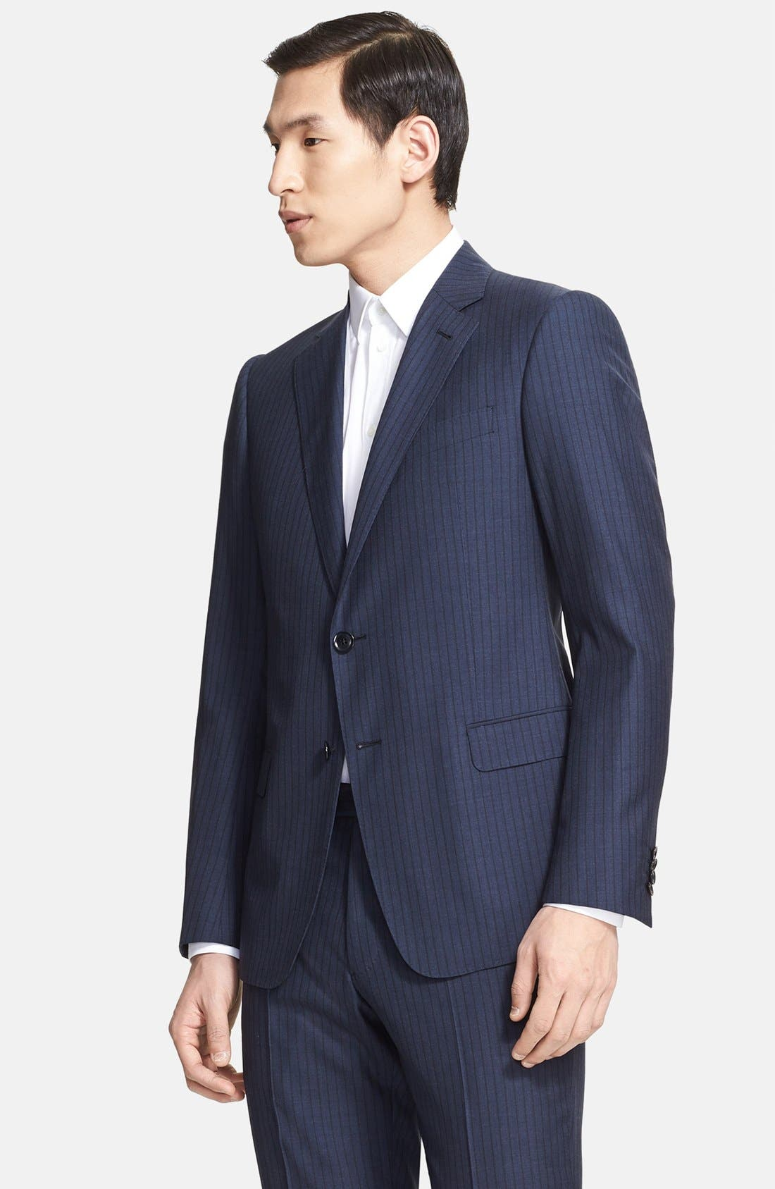 Alternate Image 3  - Armani Collezioni 'Sartorial' Pinstripe Wool Blend Suit