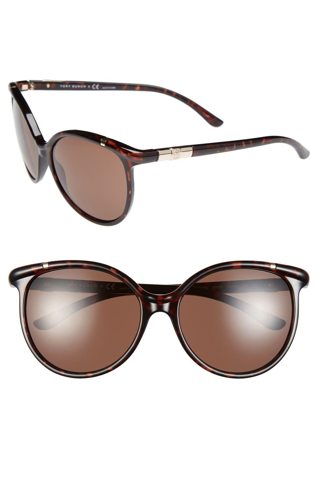 Alternate Image 1 Selected - Tory Burch 59mm Cat Eye Sunglasses