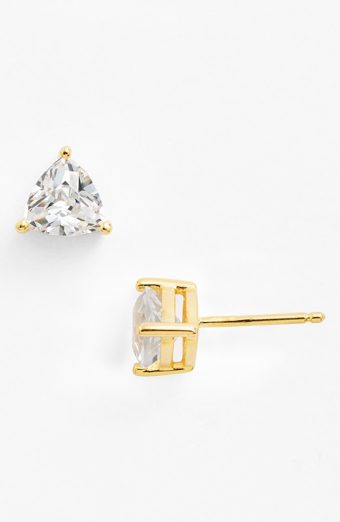 Alternate Image 1 Selected - Nordstrom Boxed Trillion 2ct tw Cubic Zirconia Stud Earrings