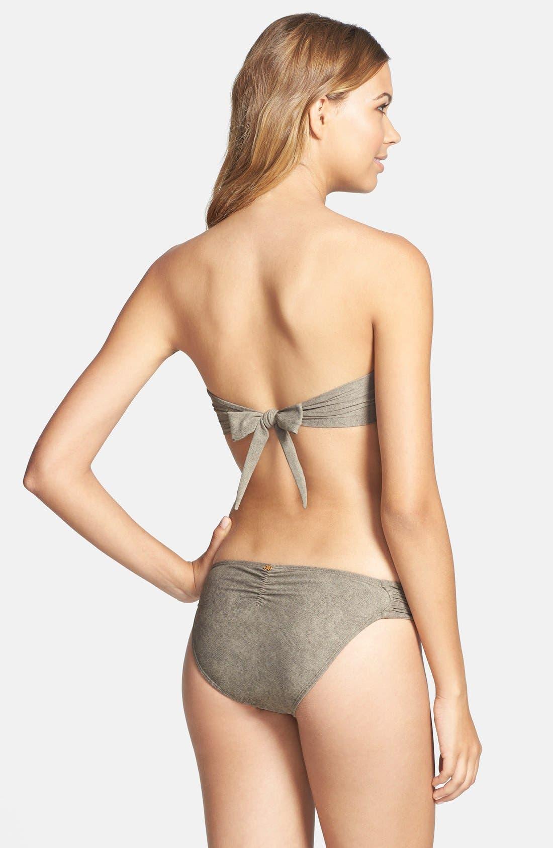 Alternate Image 4  - PilyQ 'Chuchi' Sueded Bead Underwire Bandeau Bikini Top