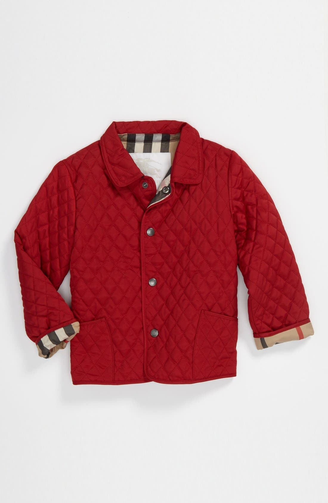 Main Image - Burberry 'Colin' Quilted Jacket (Baby Girls)
