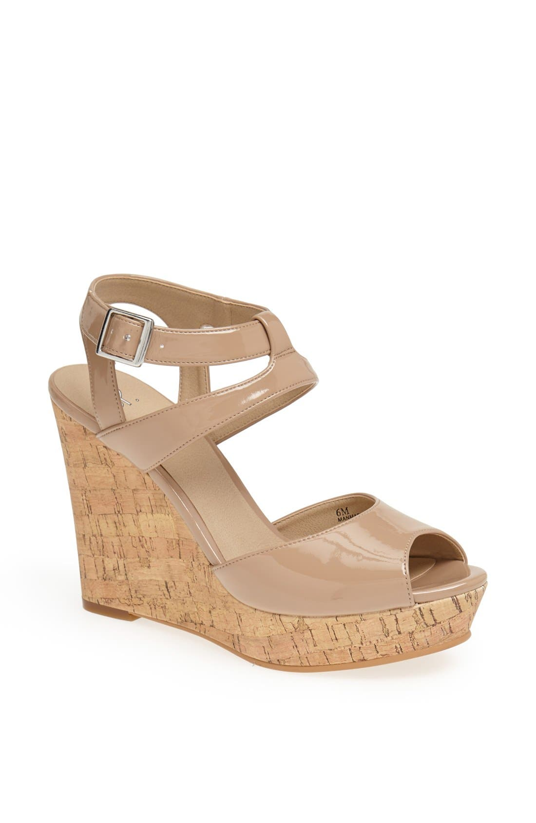 Alternate Image 1 Selected - BP. 'Julia' Patent Wedge Sandal