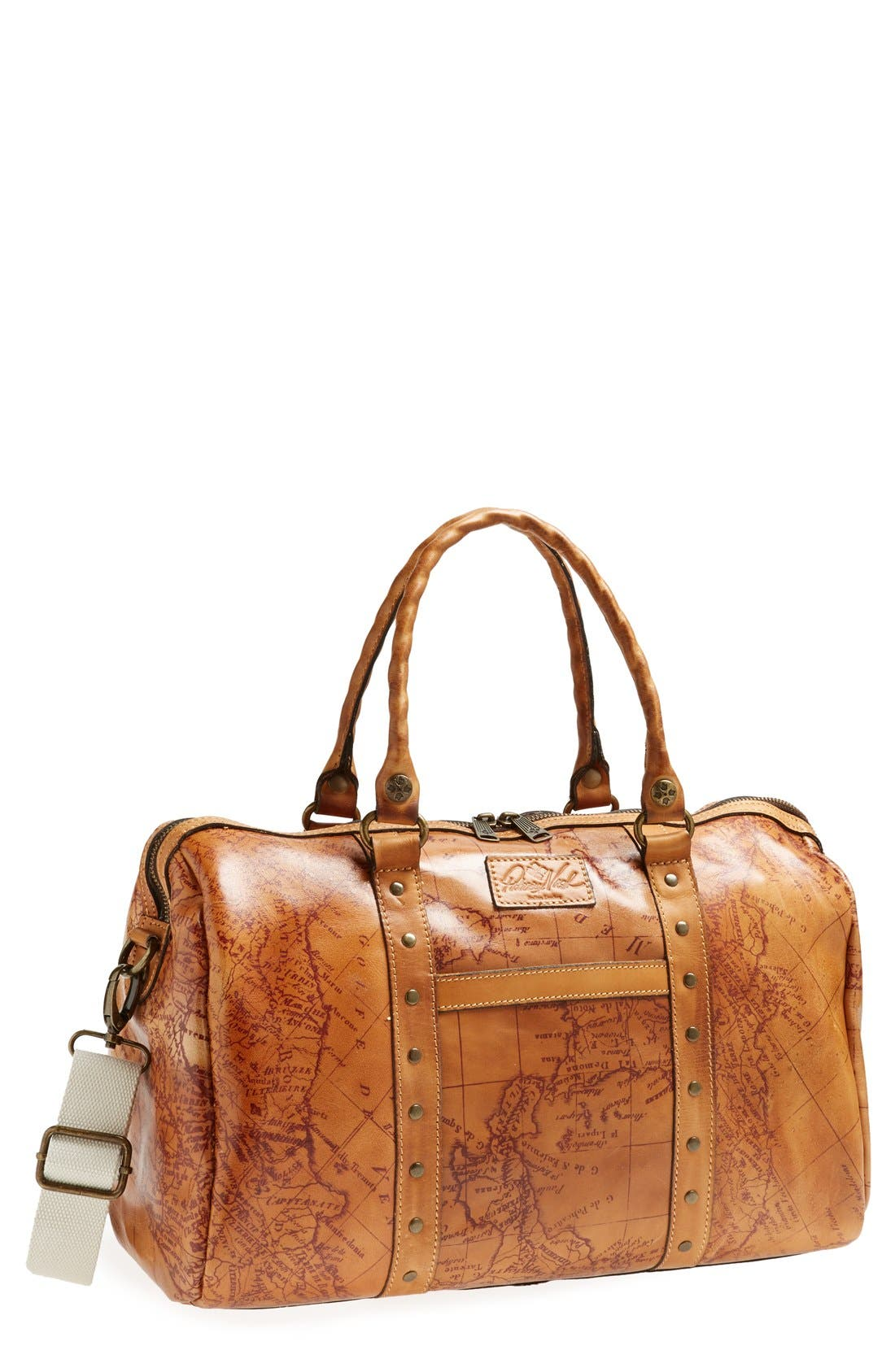 Main Image - Patricia Nash 'Stressa' Leather Overnight Bag (16 Inch)