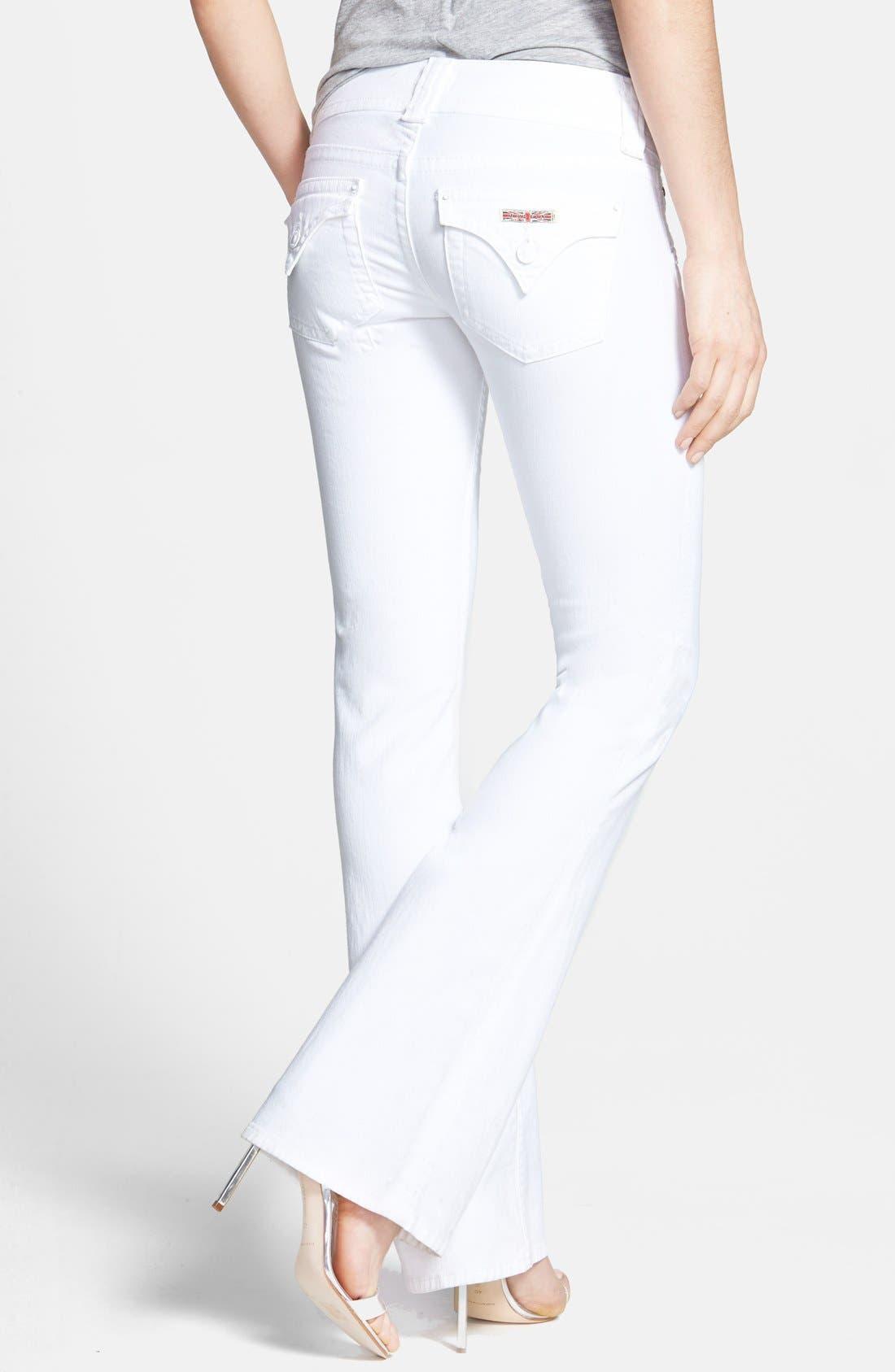 Alternate Image 2  - Hudson Jeans Signature Flap Pocket Bootcut Stretch Jeans (White)