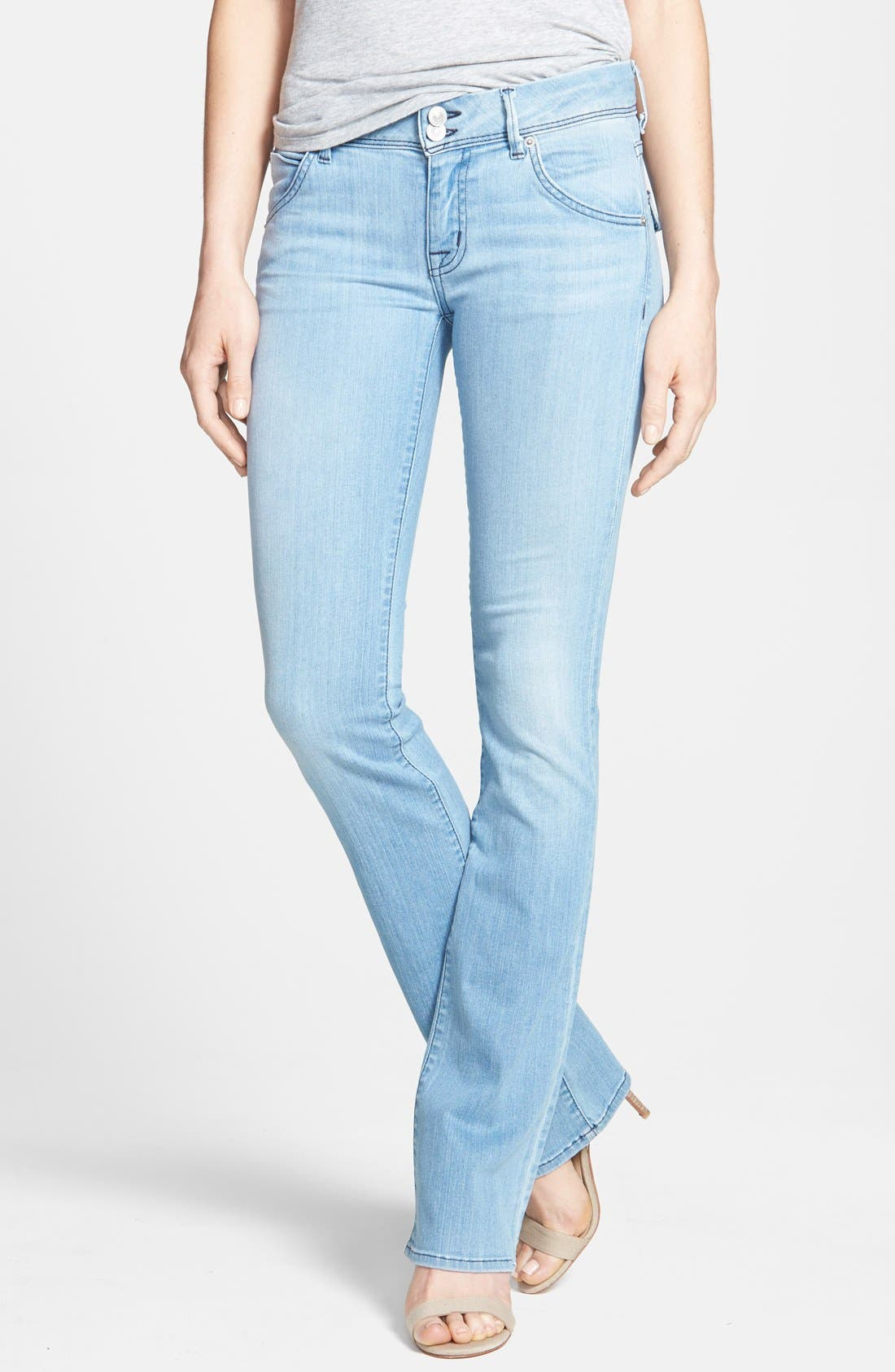 Alternate Image 1 Selected - Hudson Jeans 'Beth' Baby Bootcut Jeans (Foley)
