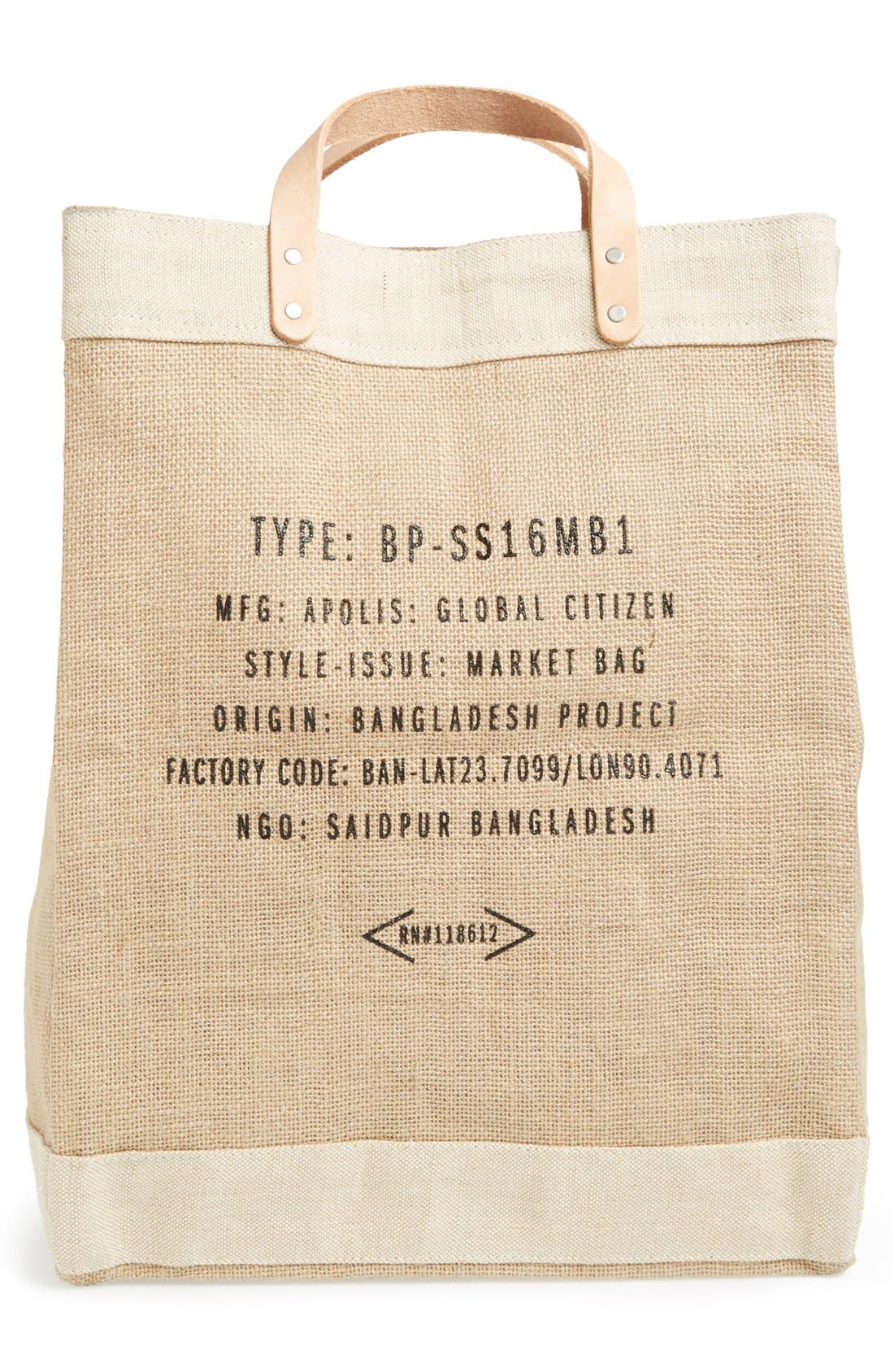Alternate Image 4  - Apolis 'Surfin USA' Market Bag