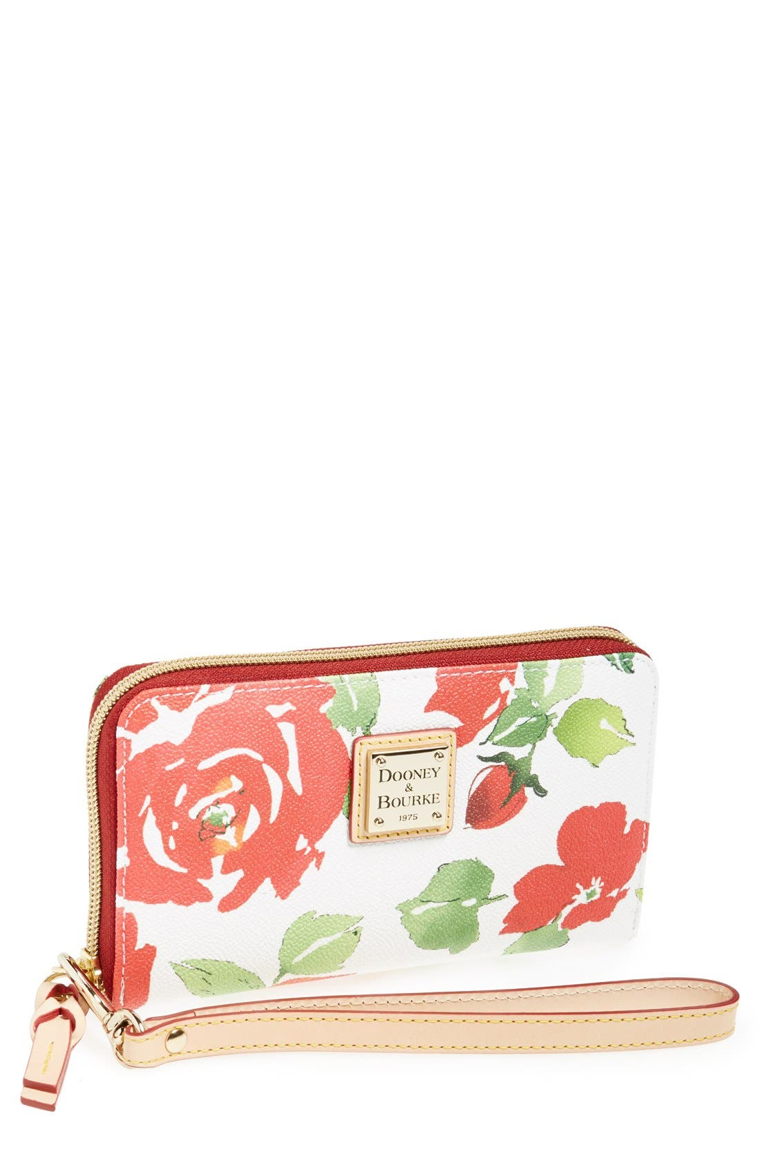 Main Image - Dooney & Bourke 'Rose Garden' Zip Around Wristlet